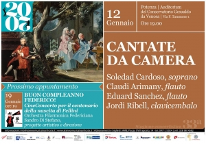 CANTATE DA CAMERA ALL'AUDITORIUM DI POTENZA
